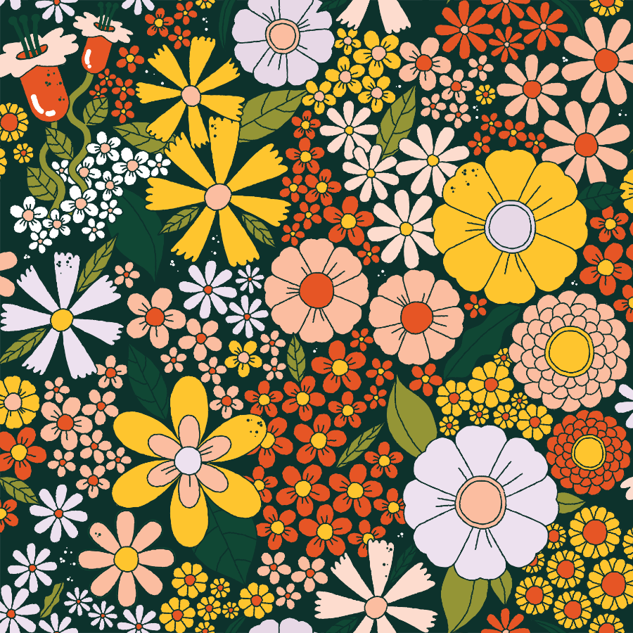 Megan McNulty 60s flowers